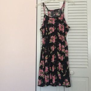 NWT black and floral dress